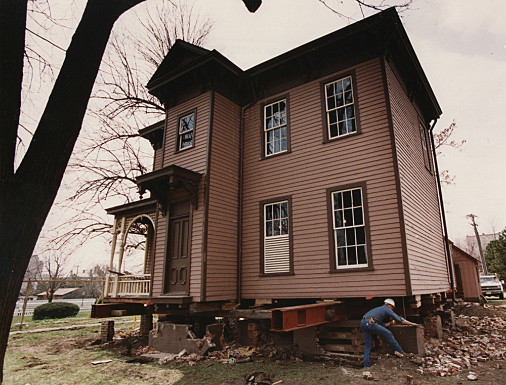 1993: A basement and new foundation is built for the Dean House.