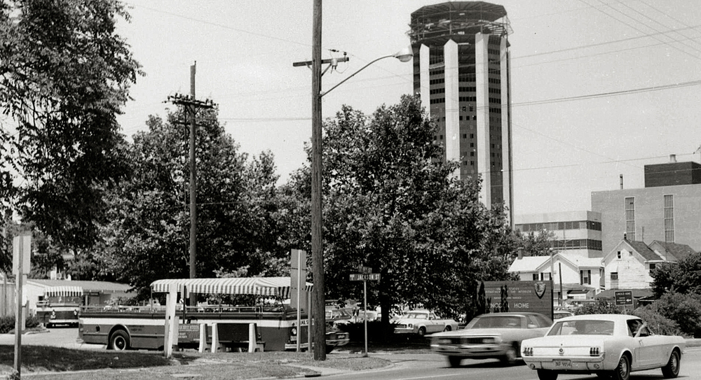 1973:View along Ninth Street. Courtesy Lincoln Home National Historic Site