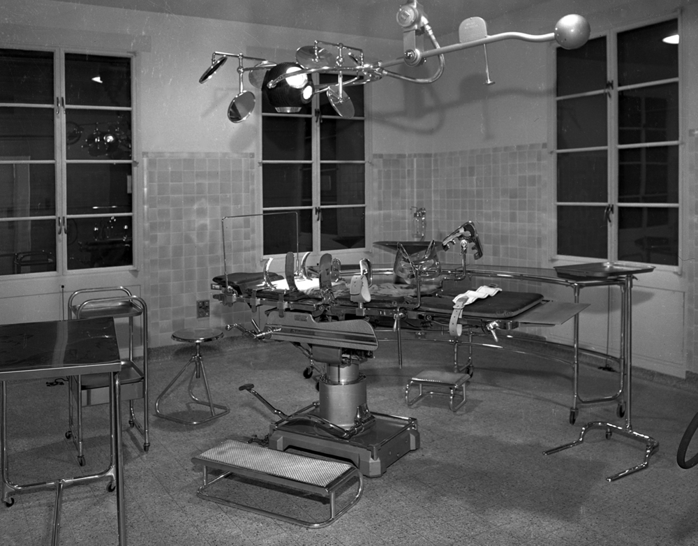 The five major operating rooms were equipped with shadow-less surgical lighting, stainless steel fixtures, explosion-proof wall outlets and an aspirator for drawing fluids from cavities. File/The State Journal-Register
