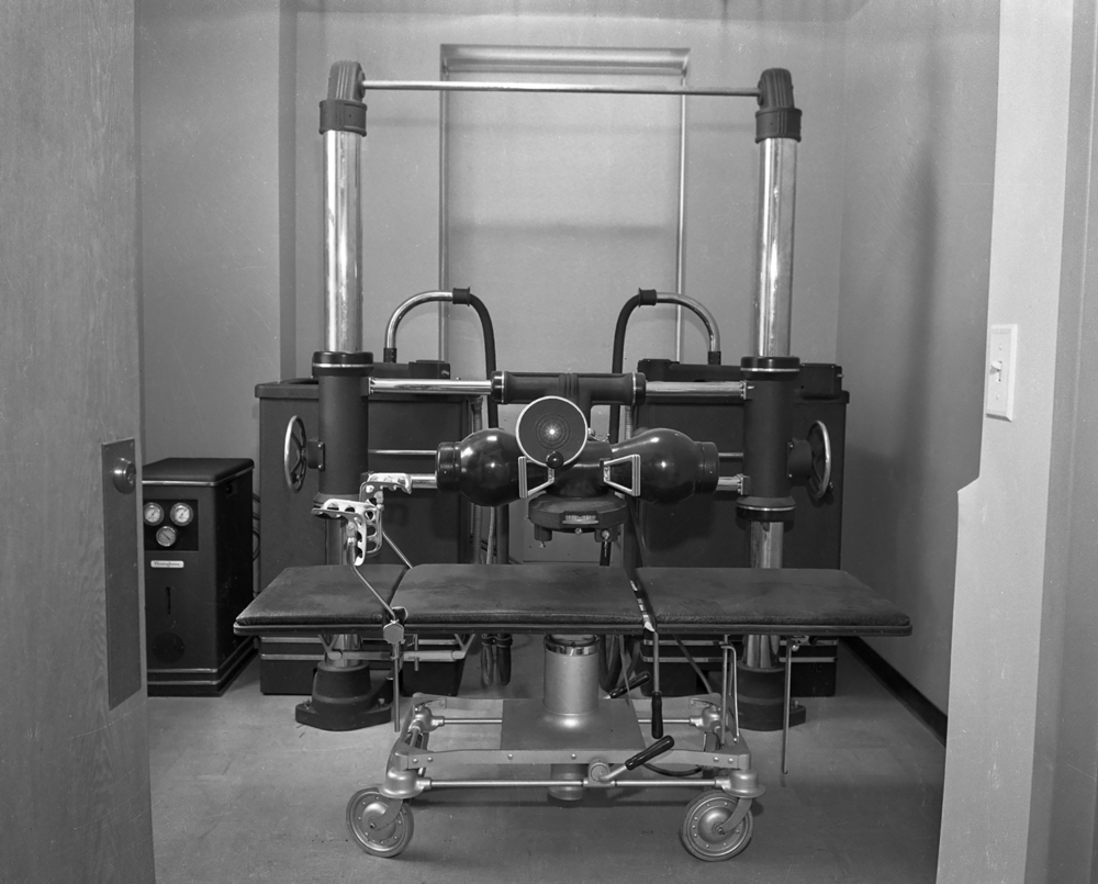 The Quadrocondex, type D constant potential deep therapy X-ray machine was state of the art in the 1940s. File/The State Journal-Register