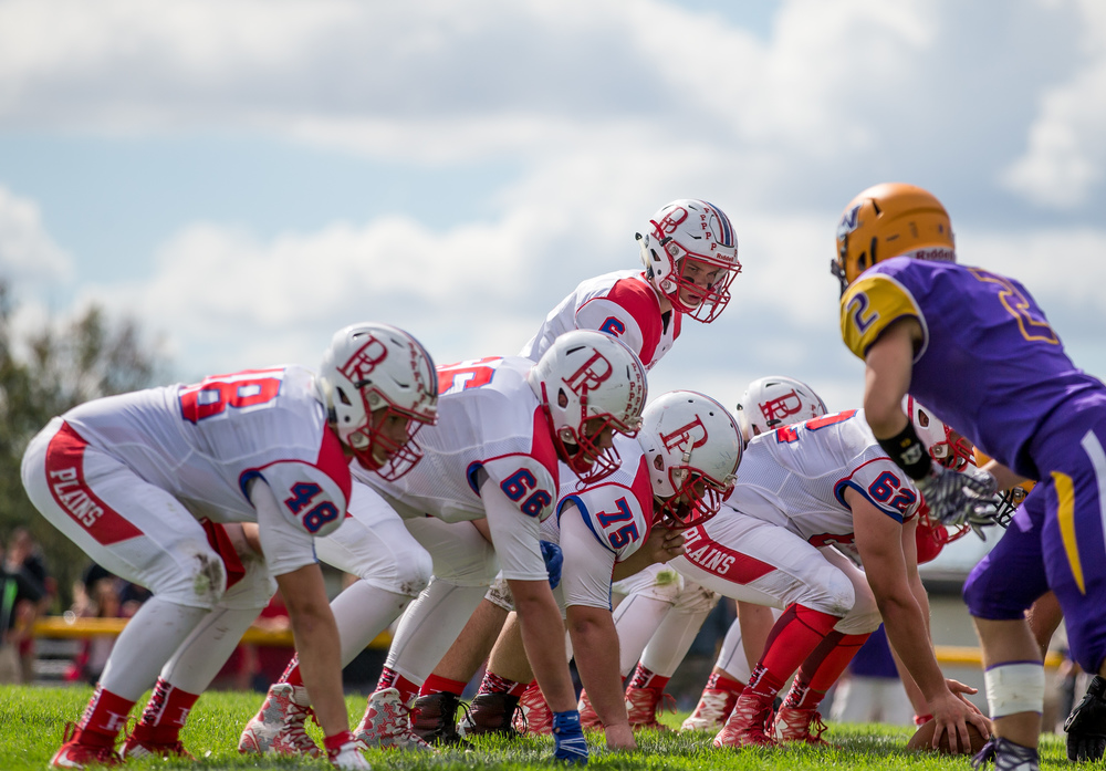 Pleasant Plains quarterback Jacob Cronister (6) looks out over the Williamsville defense as the Cardinals line up near the goal line during the second half at Paul Jenkins Field, Saturday, Sept. 19, 2015, in Williamsville, Ill. Justin L. Fowler/The State Journal-Register