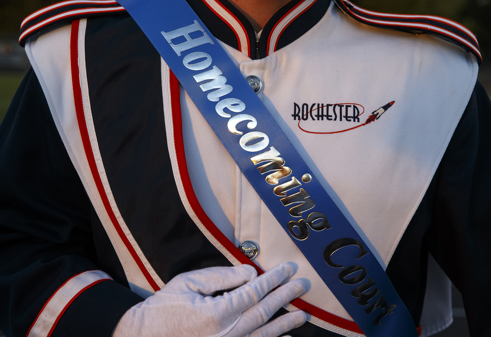Rochester High School recognized the homecoming court before the Rocekts faced Southeast at Rochester High School Friday Sept. 25, 2015. Ted Schurter/The State Journal-Register