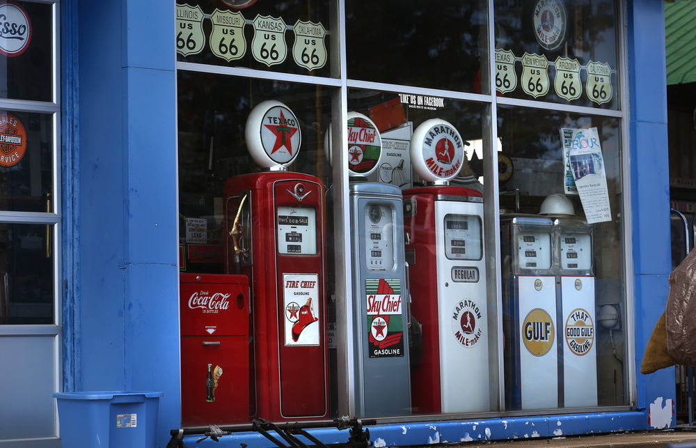 Vintage gas pumps located in the main museum will be auctioned Nov. 21 and seen here on Thursday, Oct. 1, 2015. David Spencer/The State Journal-Register