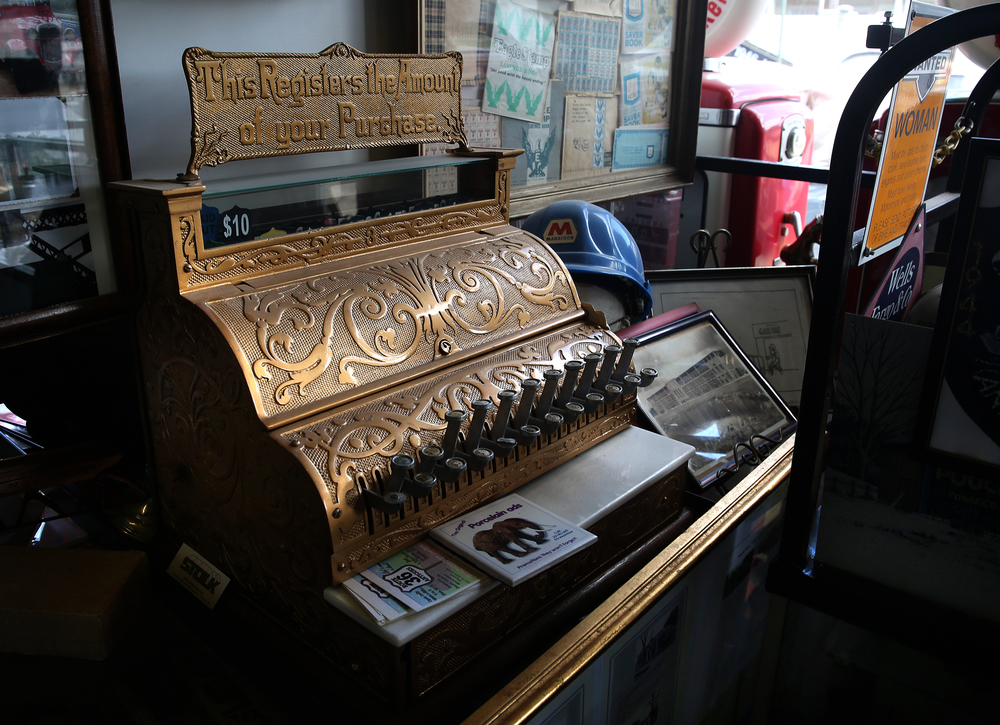 A vintage cash register from the turn of the 20th century inside the main museum will be auctioned on Nov. 21 and seen here Thursday, Oct. 1, 2015. David Spencer/The State Journal-Register