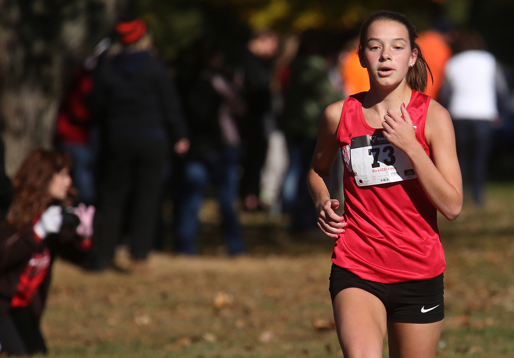 Springfield High School's Natalie Motor finished third overall with a time of 18:22.936 on Saturday. David Spencer/The State Journal-Register