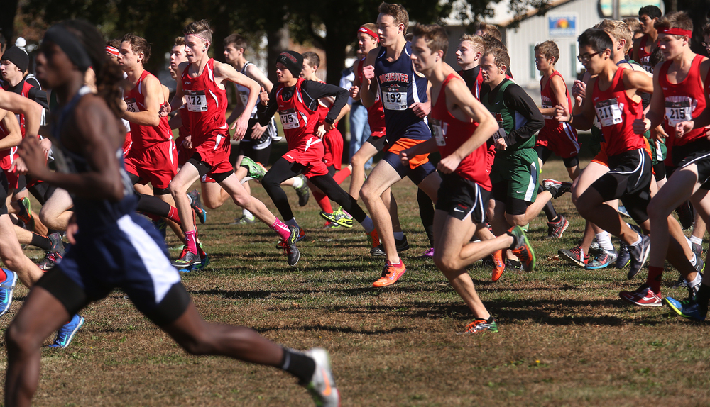 The start of the boys race on Saturday, in which 135 finished. David Spencer/The State Journal-Register