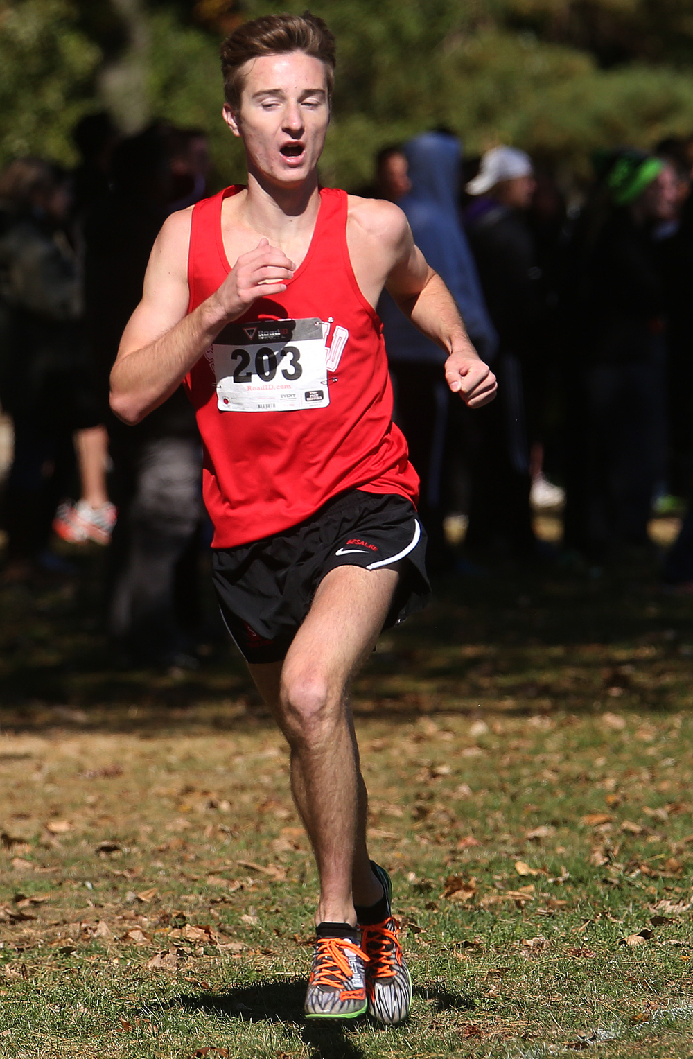 Springfield High School runner Logan Besalke came in third place overall on Saturday with a time of 15:37.456. David Spencer/The State Journal-Register