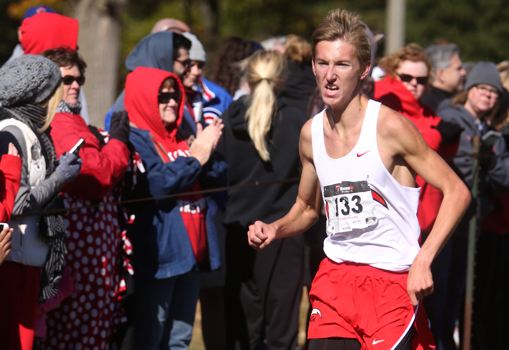 Chatham Glenwood runner Landon Skelly came in second place overall on Saturday with a time of 15:32.046. David Spencer/The State Journal-Register
