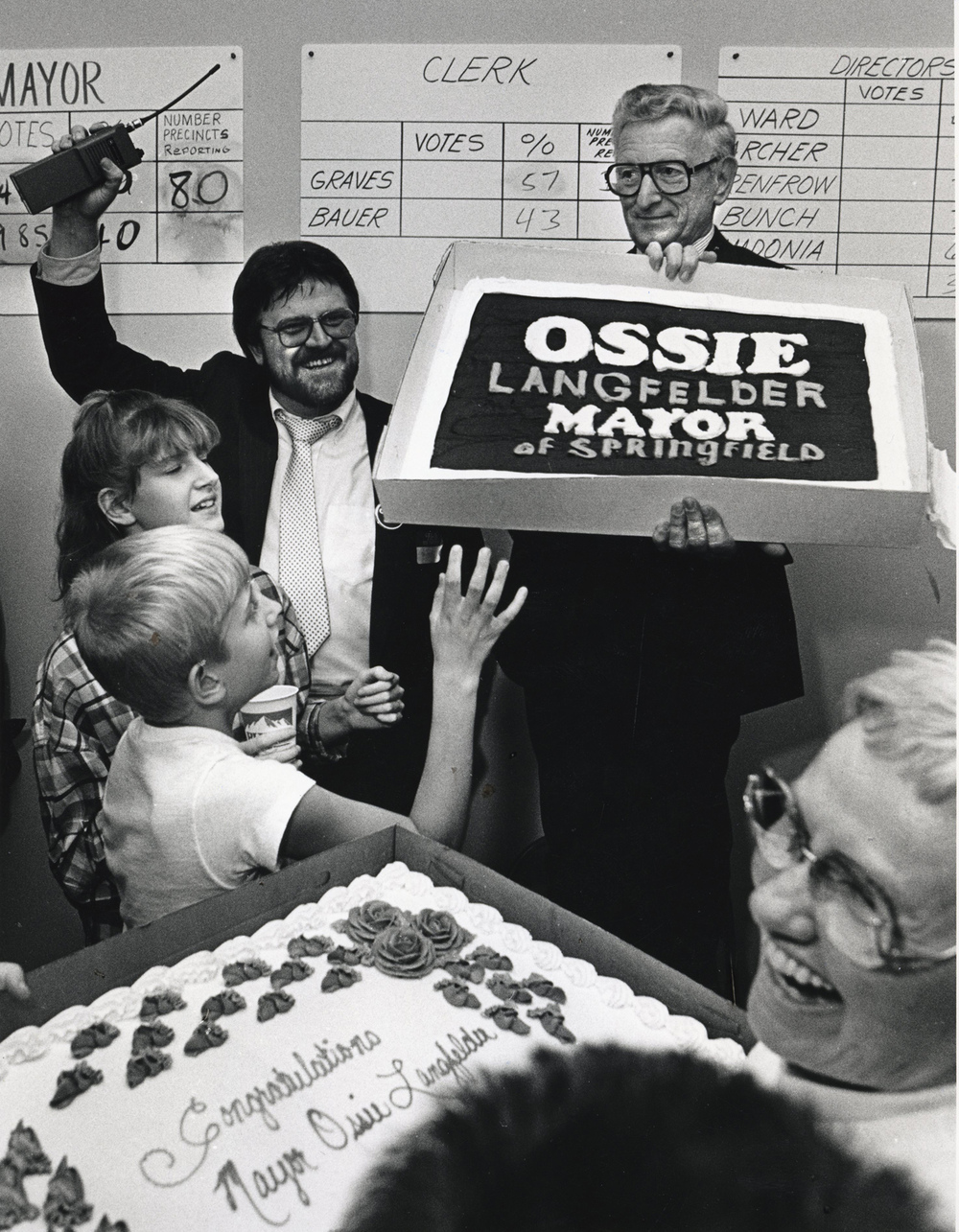 Ossie Langfelder is elected mayor November 1987. File/The State Journal-Register