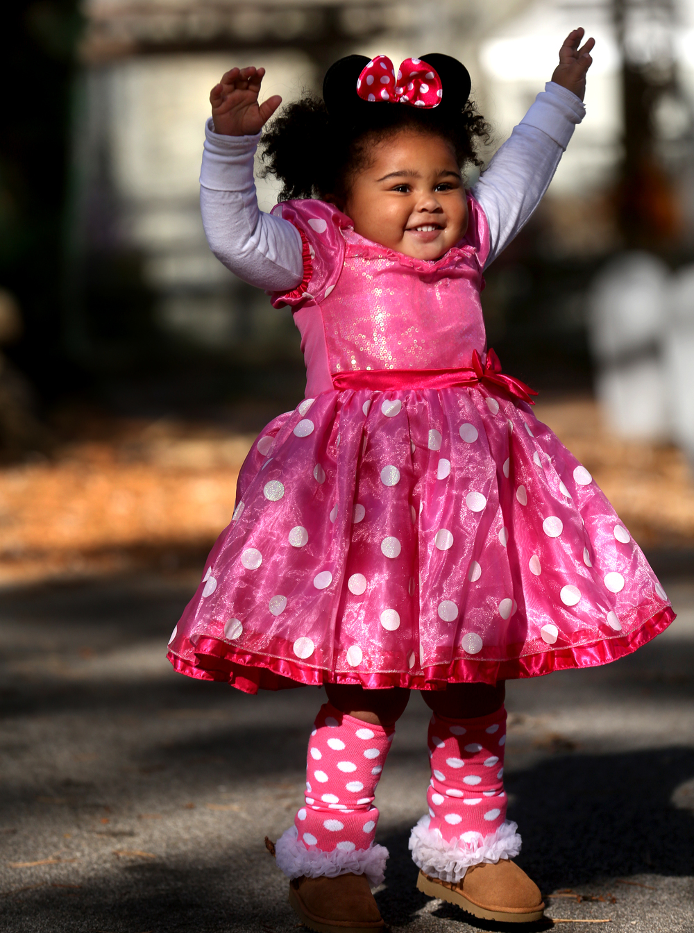 "Minnie Mouse is Londyn Patton, 2, of Rochester, who is seen dancing to the song ""YMCA"" while dressed as her favorite princess on Sunday. She was at the zoo with her mom, Lindsay Tasker, and aunt and grandma. David Spencer/The State Journal-Register"