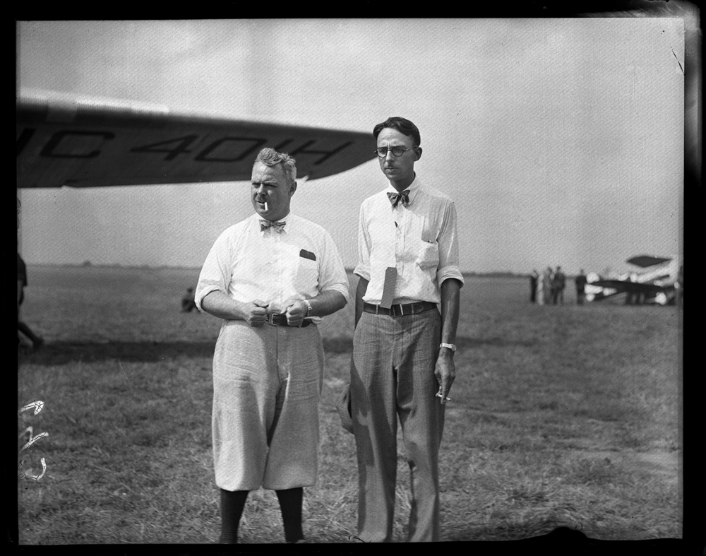 Craig Isbell, right, was a pilot and director of the municipal airport, with unidentified man ca. 1930. File/The State Journal-Register