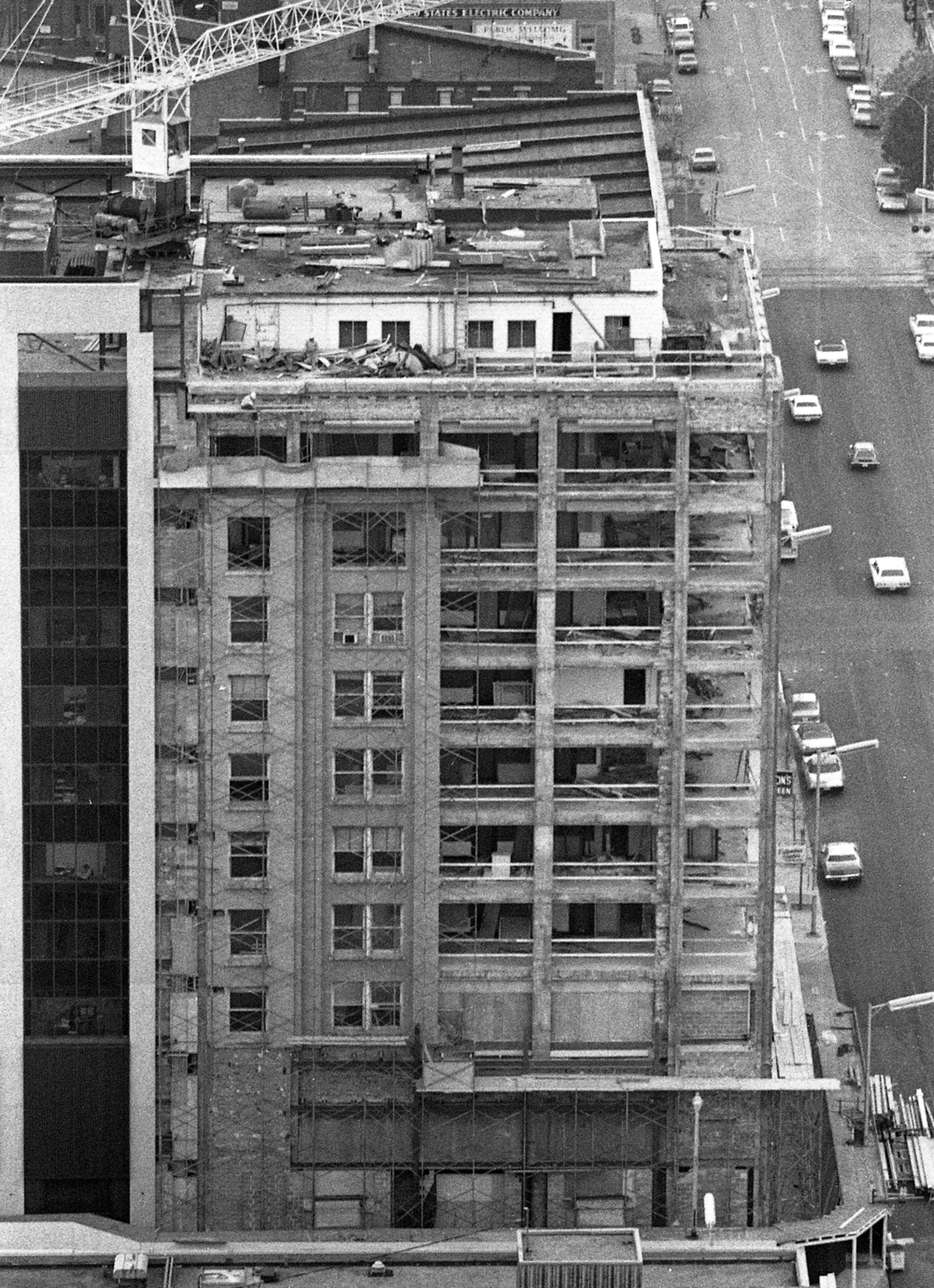 Expansion and renovation of the exterior of the First National Bank at corner of Fifth and Adams streets, Oct. 30, 1974. File/The State Journal-Register