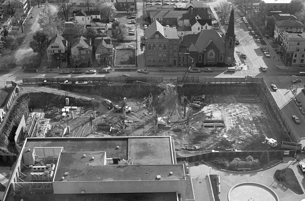 Construction of Lincoln Library, Oct. 30, 1974. File/The State Journal-Register