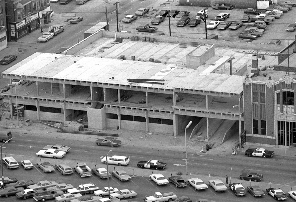 Addition to the Springfield Police Department at Sixth and Jefferson streets added parking and office space, Oct. 30, 1974. The Abraham Lincoln Presidential Museum now occupies this location. File/The State Journal-Register