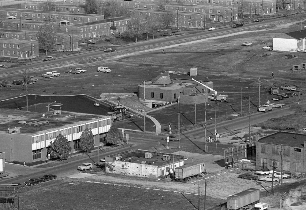 Construction of new offices for the Springfield Housing Authority at Eleventh and Jefferson streets. The John Hay Homes are in the background, Oct. 30, 1974. File/The State Journal-Register