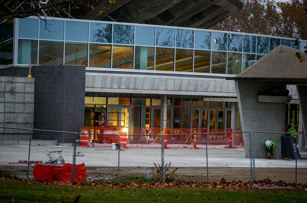 Construction continues on Phase Four of the renovations  to the University of Illinois' State Farm Center including the new West Grand Entrance, Thursday, Nov. 5, 2015, in Champaign, Ill. Justin L. Fowler/The State Journal-Register