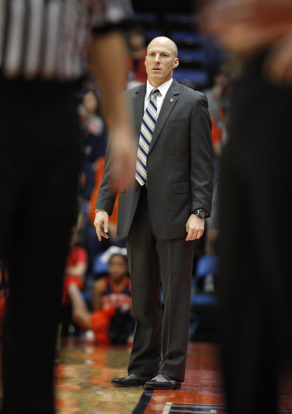 University of Illinois men's basketball coach John Groce watches as his team takes on North Dakota State University during the first half at the Prairie Capital Convention Center, Sunday, Nov. 15, 2015, in Springfield, Ill. Justin L. Fowler/The State Journal-Register