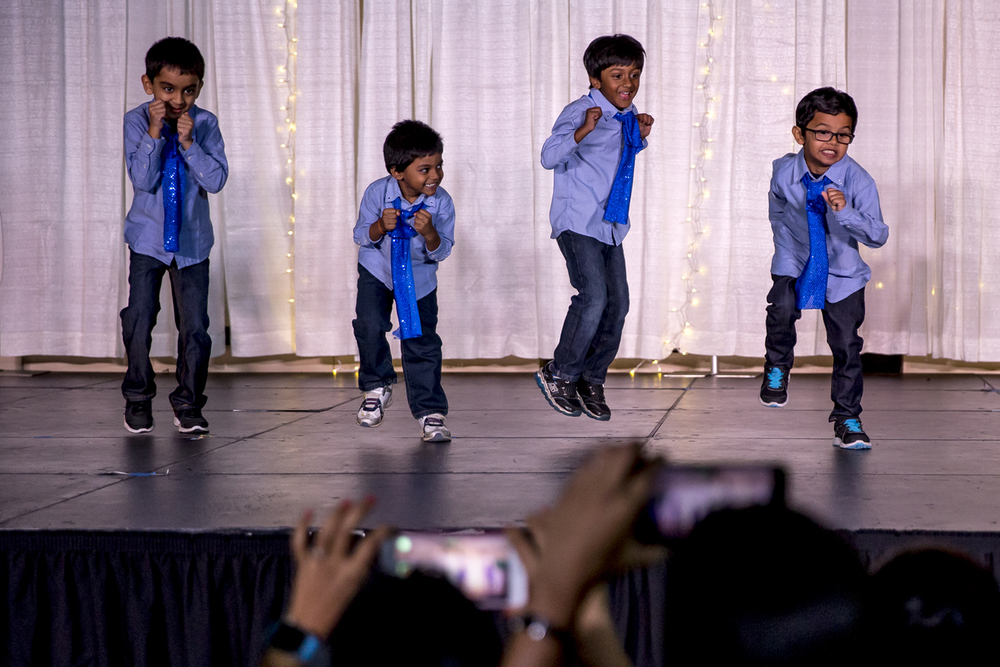 Members of the Bang Bang Boys perform their Diwali Dhamaka Dance during the India Association of Greater Springfield's annual Diwali Night celebration at Erin's Pavilion, Sunday, Nov. 8, 2015, in Springfield, Ill. Justin L. Fowler/The State Journal-Register