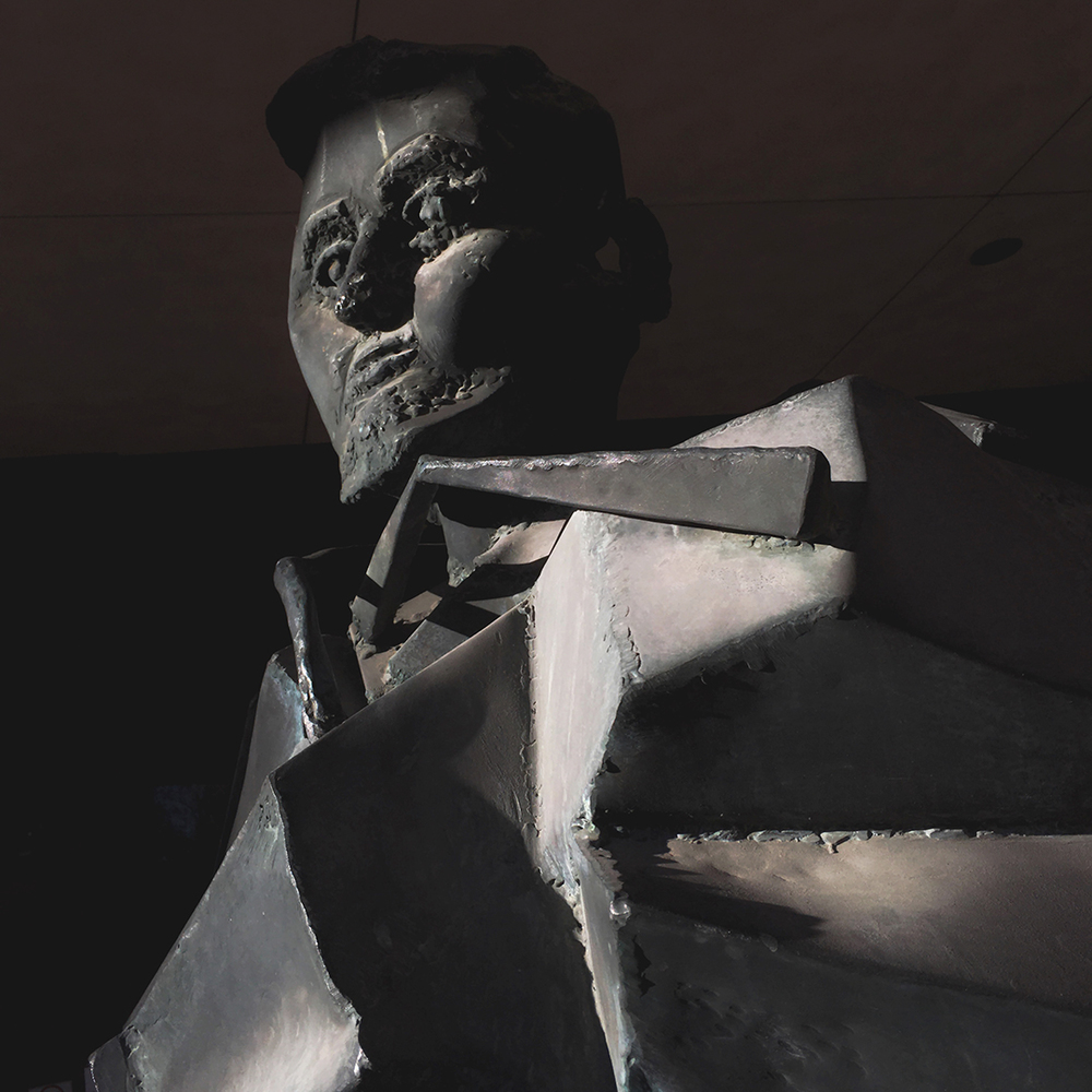A modernist interpretation of Honest Abe by the famed artist Abbott Pattison is outside Springfield's Lincoln Library. Read more about the sculpture on our  Picturing the Past photo blog . Rich Saal/The State Journal-Register