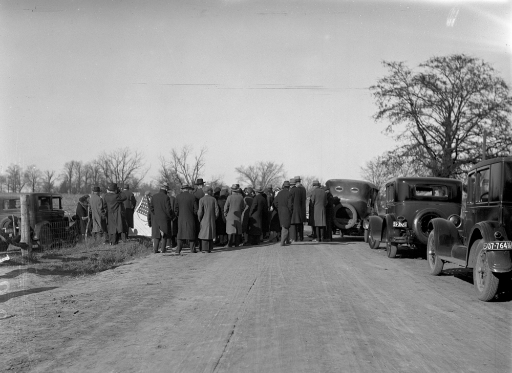 Dedication of the Robert Pulliam historical marker on Old Indian Trail Road near Glenarm, Nov. 22, 1930. File/The State Journal-Register