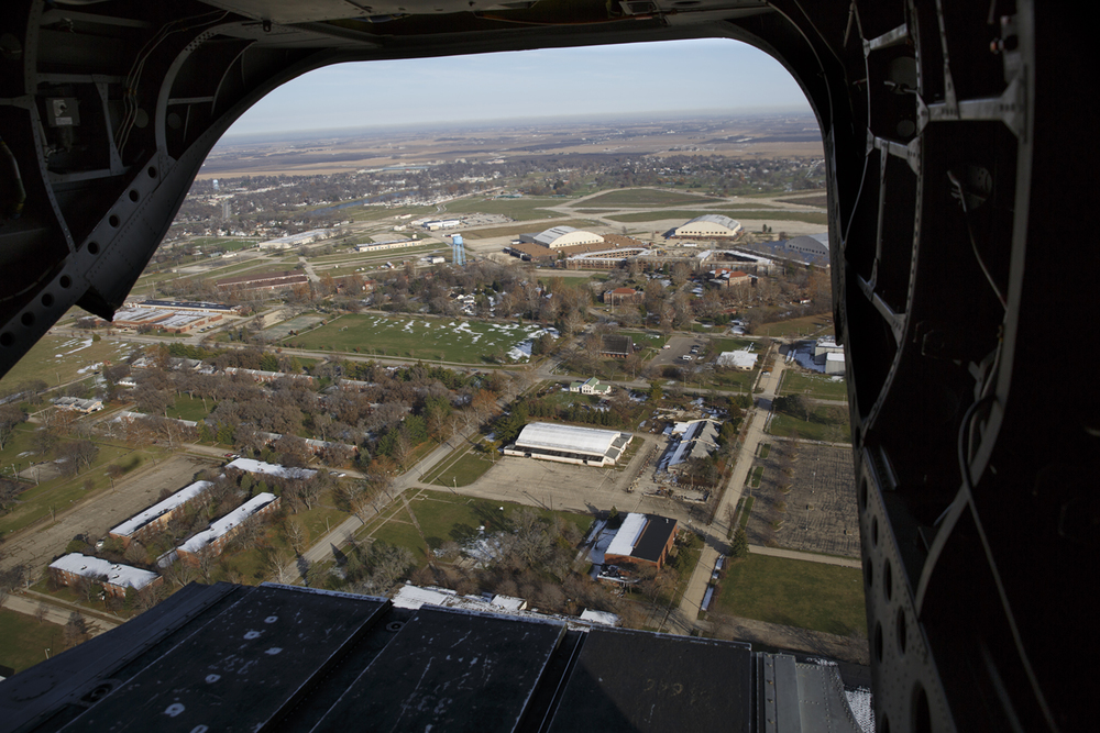The Lincoln's Challenge Academy is located on the former Chanute Air Force Base in Rantoul, which was closed in 1993 by the Department of Defense. The base is seen from a CH-47 Chinook helicopter Tuesday, Nov. 24, 2015. Rich Saal/The State Journal-Register