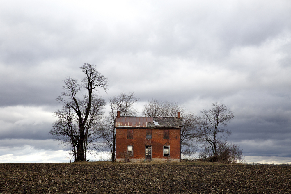 Already battered by age and weather, an abandoned farm house along Old Jacksonville Road faces another day against the elements Monday, Dec. 14, 2015. Rich Saal/The State Journal-Register