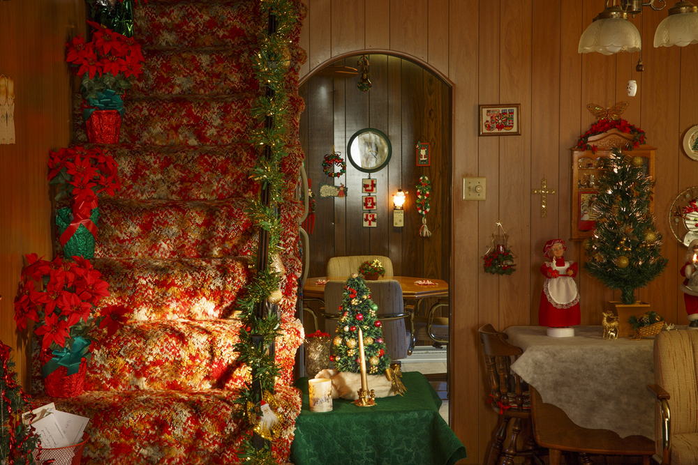 Jean Hulbert, 92, is known to decorate her home for Christmas with exuberance, using every piece of her collection dating back 65 years.