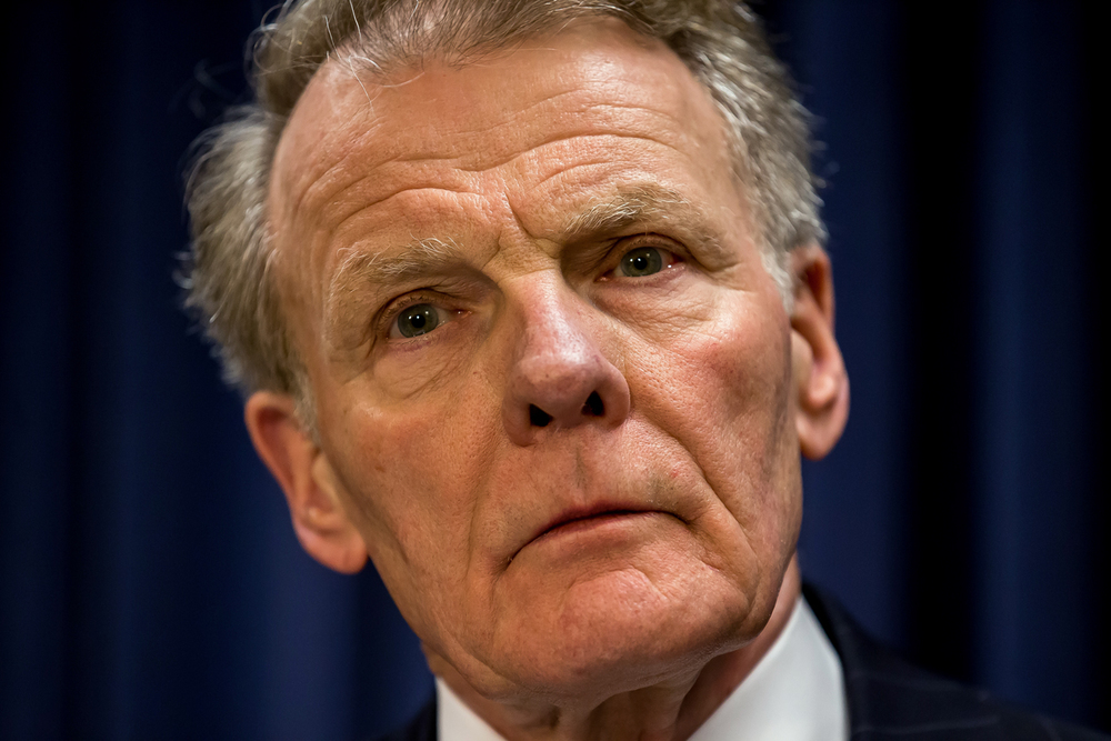 House Speaker Michael Madigan, D-Chicago, listens to questions asked by reporters during a press conference at the Illinois State Capitol, Wednesday, July 15, 2015, in Springfield, Ill. Justin L. Fowler/The State Journal-Register