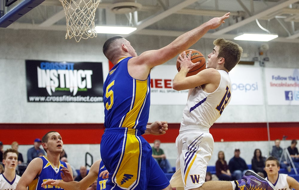 Tri-City's Matt Standish pressures Williamsville's Matt Watson during the County Tournament at Lincoln Land Community College Tuesday, Jan. 12, 2016. Ted Schurter/The State Journal-Register