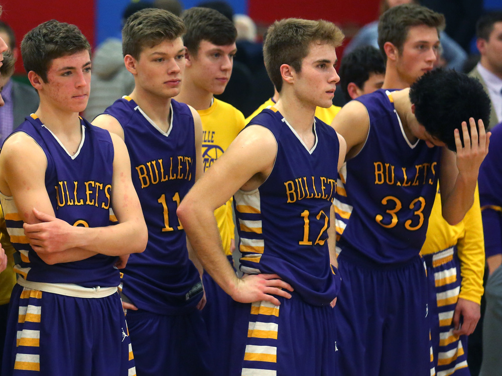 Williamsville players prepare to accept the runner-up trophy. David Spencer/The State Journal Register