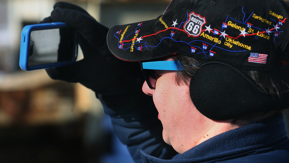A couple Route 66 buffs showed up to take pictures of the move, including Springfield resident Josh Friedrich, sporting a Rt. 66 ball-cap. David Spencer/The State Journal-Register