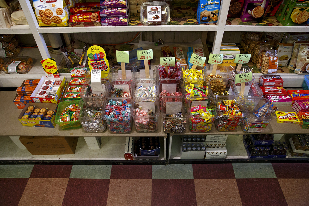 The candy counter at the Food Mart in late December was still fully stocked. Rich Saal/The State Journal-Register
