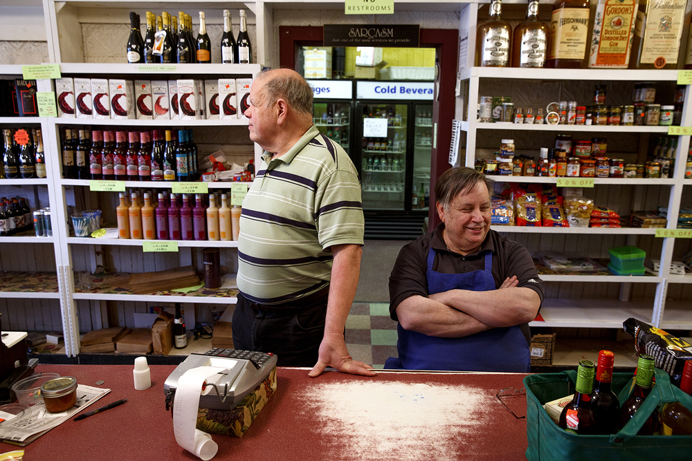 The some-times antagonistic Pirrera brothers, Pete, left, and Tony, are fifth-generation owners of the Food Mart. Rich Saal/The State Journal-Register
