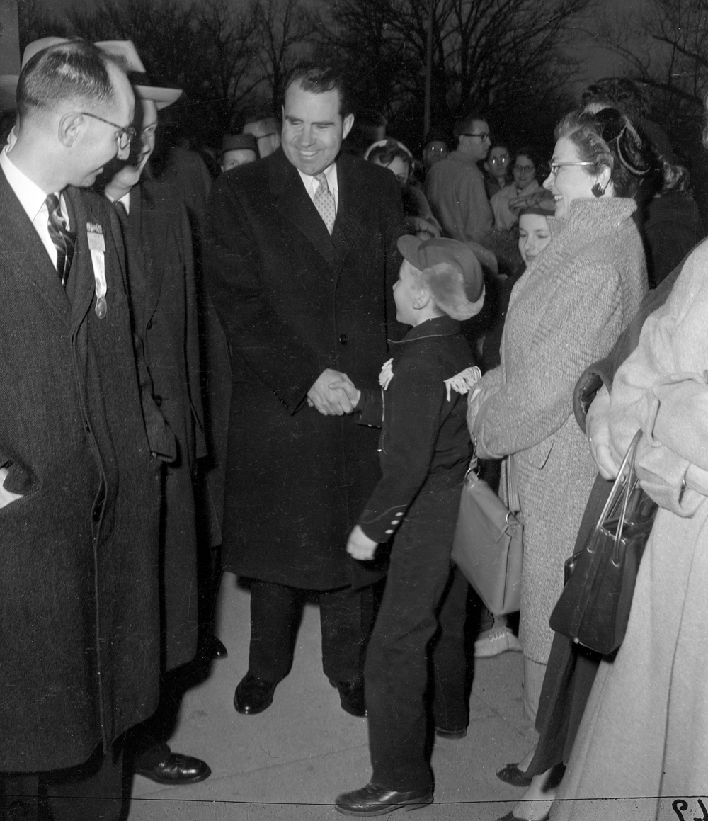 Vice President Richard Nixon at Lincoln's Tomb, Jan. 14, 1956. File/The State Journal-Register