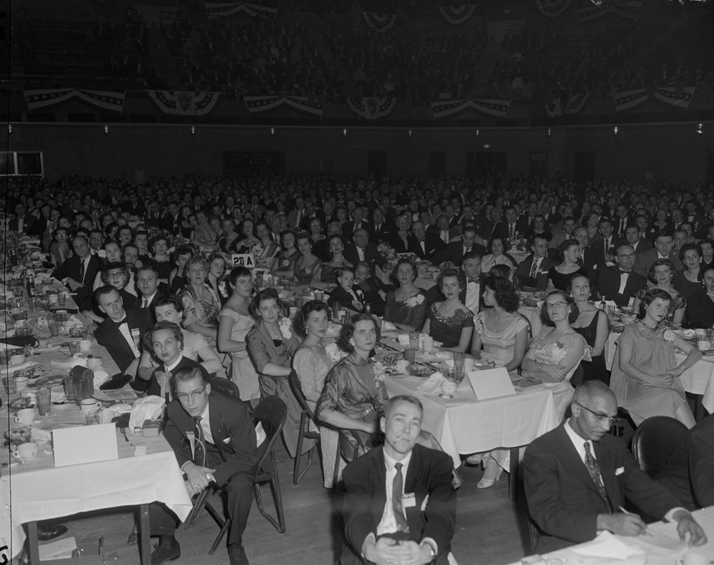 The U.S. Junior Chamber of Commerce banquet and awards ceremony for the Ten Outstanding Young Men of America at the State Armory, Jan. 14, 1956. File/The State Journal-Register