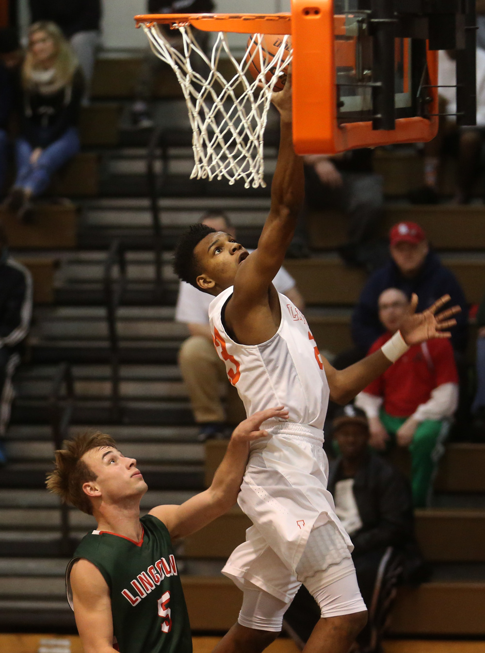 Lanphier's Aundrae Williams puts up two points in the first half. David Spencer/The State Journal Register