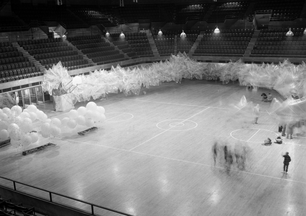 The Freedom Flight balloon launch and parade was staged in the Armory   Feb. 12, 1954. File/The State Journal-Register