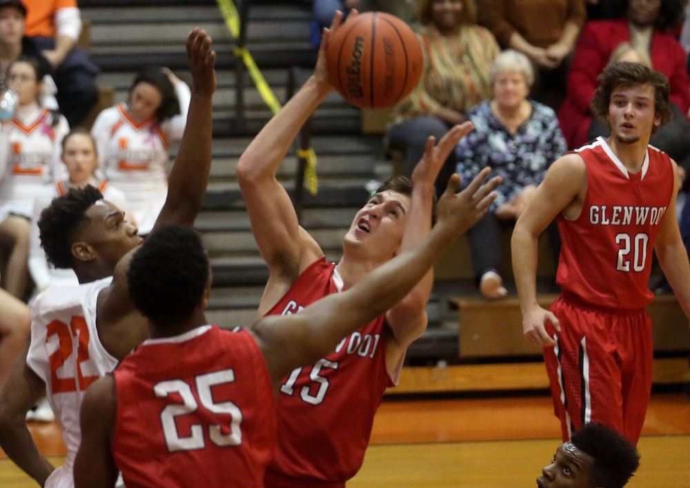 Glenwood's Joel Alexander prepares to pull down a rebound. David Spencer/The State Journal Register
