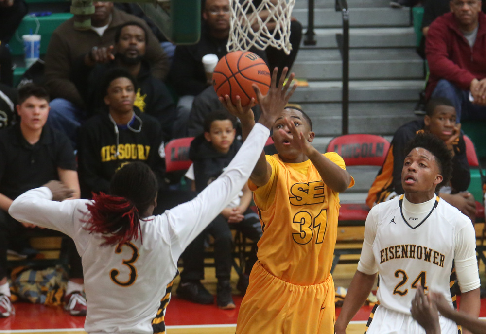 Southeast player Kobe Medley prepares to put up two points. David Spencer/The State Journal Register