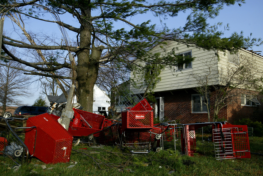 Dozens of Shop 'n Save grocery carts were tossed into the front yards of two homes on Jerome Avenue. File/Jonathan Kirshner/The State Journal-Register