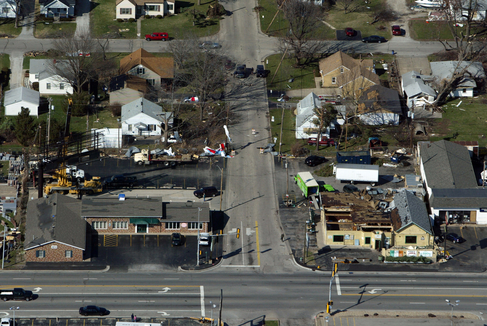 The Barrel Head and several buildings in Jerome were heavily damaged. File/Ted Schurter/The State Journal-Register
