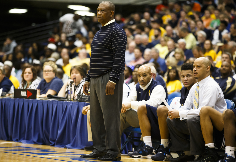 Southeast head basketball coach Lawrence Thomas watches as his team takes on Belleville Althoff in the third quarter during the Class 3A Springfield Supersectional at the Prairie Capital Convention Center, Tuesday, March 15, 2016, in Springfield, Ill. Justin L. Fowler/The State Journal-Register