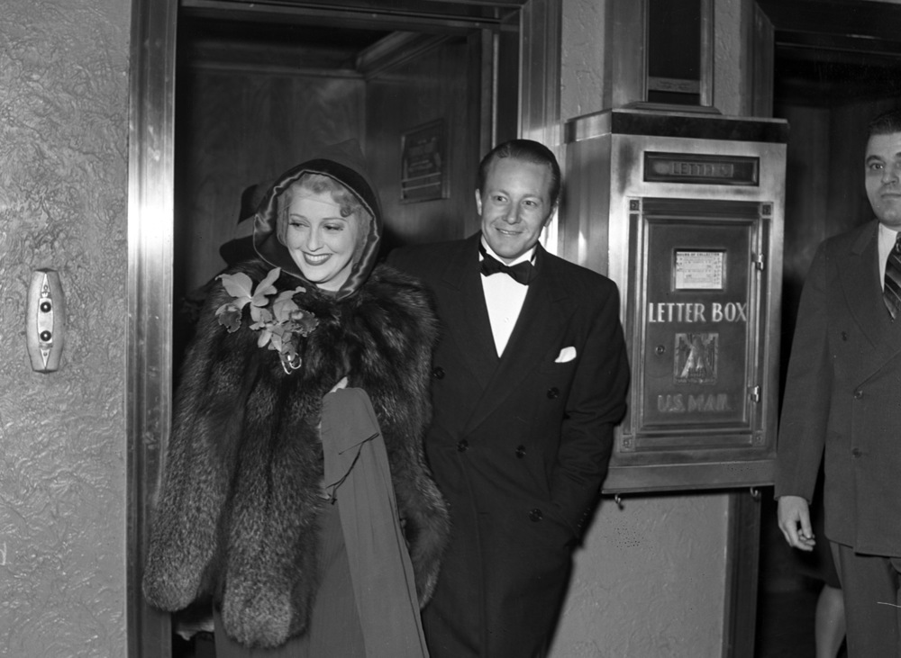 Jeanette MacDonald's husband, actor Gene Raymond, flew to Springfield from Hollywood to see his wife's concert at the Orpheum. The two were photographed getting off the elevator at the Leland Hotel. Rich Saal/The State Journal-Register