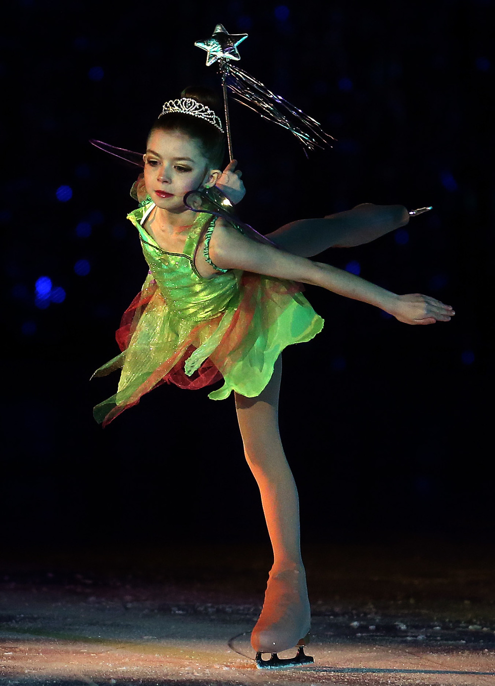 Tinker Bell was performed by skater Camrey Hedges during the Peter Pan segment at Saturday's matinee performance. David Spencer/The State Journal Register