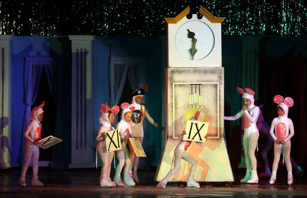 During the Cinderella segment, some of the mice count down to midnight. David Spencer/The State Journal Register