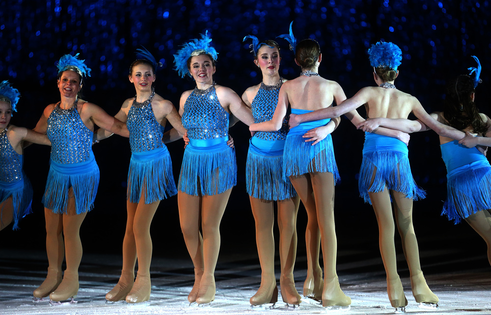 Skaters perform during the 42nd Street segment of the show during Saturday's matinee. David Spencer/The State Journal Register
