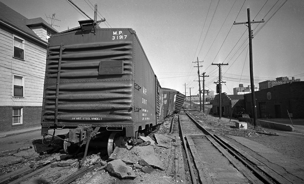 Sixteen cars of a GM&O freight train derailed on the Third Street track March 23, 1963. File/The State Journal-Register