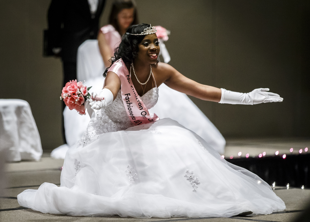 Debutante Jada Rice takes her first bow as Miss Fashionetta 2016 during Alpha Kappa Alpha Sorority Nu Omicron Omega Chapter's 18th Annual Debutante Cotillion Fashionetta 2016 at the Crowne Plaza Hotel, Saturday, March 26, 2016, in Springfield, Ill. Justin L. Fowler/The State Journal-Register