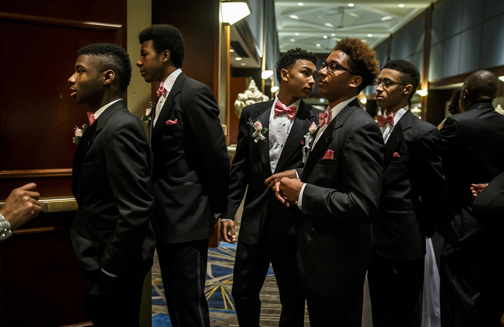 The Escorts for the Debutantes line up for their introductions during Alpha Kappa Alpha Sorority Nu Omicron Omega Chapter's 18th Annual Debutante Cotillion Fashionetta 2016 at the Crowne Plaza Hotel, Saturday, March 26, 2016, in Springfield, Ill. Justin L. Fowler/The State Journal-Register