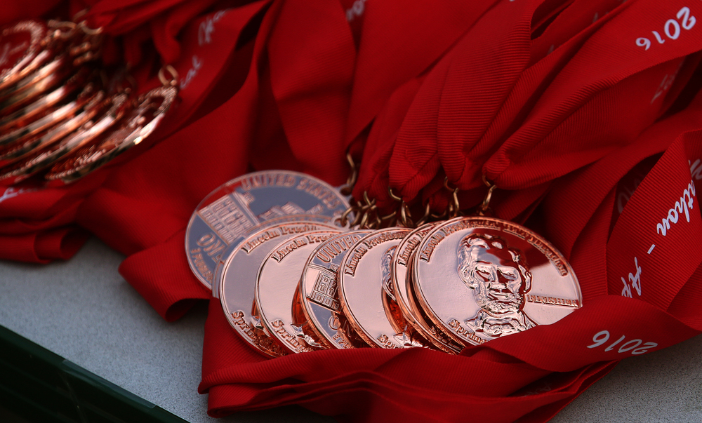 Every finisher would receive an oversized Lincoln penny medal. David Spencer/The State Journal Register
